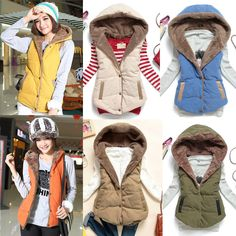 Hooded Vest with Faux Fur Lining