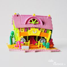Jouet Polly Pocket vintage saloon - Hello Vintage shop