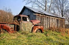 Old barn and cars - Google Search