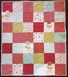 SALE Baby Girl Quilt flower Baby quilt flower baby blanket