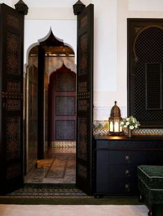 Jacques Garcia update of Hotel La Mamounia in Marrakech-a former 18th C palace.