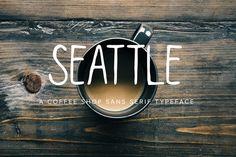 Seattle font by Jen Wagner Co on @creativemarket