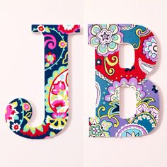 8 hand painted wooden letter vera bradley by kindasouthern painting wooden letters painted letters