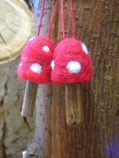 So we've crafted our toadstool ornaments! I think we're definitely going to need to craft some more because I'd love to see the tree ...