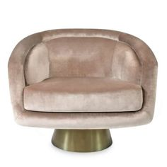 Think Halston, think Studio think sybaritic style. But also think cozy, comfy swivel chair. Luxurious Rialto Ash velvet atop an architec Luxury Chairs, Antique Sideboard, Eclectic Modern, Swivel Armchair, Vintage Chairs, Retro Furniture, Brushed Stainless Steel, Mid Century Furniture, Tub Chair