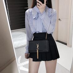 Korean Girl Fashion, Korean Fashion Trends, Ulzzang Fashion, Cute Fashion, Asian Fashion, Look Fashion, Fashion Design, Fashion 2020, Fashion Men