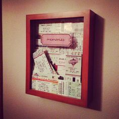 """What to do with all of your """"couple keepsakes"""" instead of hiding them in a shoe…"""
