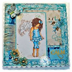 Dream Laine: Blue Star Angel - Karen Middleton #karenmiddleton #spectrumnoir #angel #michelerdesigns