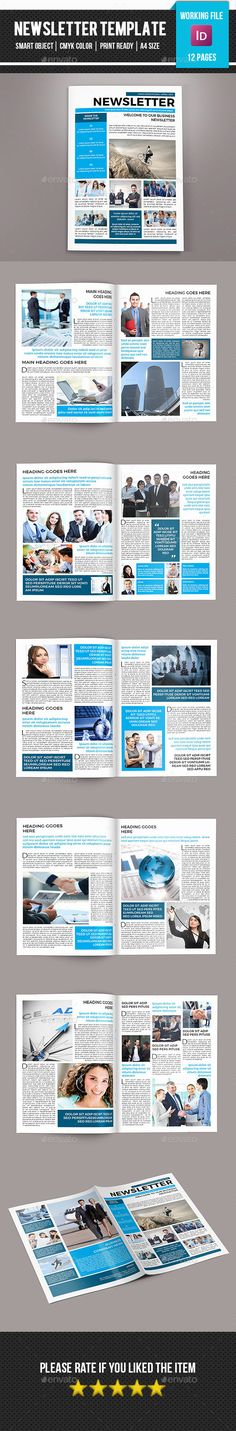 Corporate Newsletter-V02 Print templates, Template and - sample business newsletter