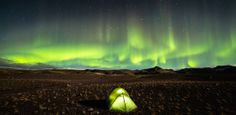 © David Whyte / National Geographic Traveler Photo Contest Camping beneath the beauty of the Aurora Borealis in Southern Iceland in the Fall of An odd sort of reflection with the tent and the sky happening. National Geographic Expeditions, National Geographic Travel, Epic Photos, Cool Photos, Amazing Photos, Photographie National Geographic, National Geographic Photo Contest, Camping Sauvage, Photo Voyage
