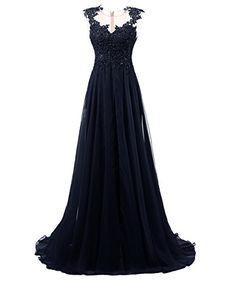 Dresstells® Long Prom Dress Scoop Wedding Dress Beadings Evening Gown Navy Size 2 Dresstells http://www.amazon.com/dp/B017W0I11K/ref=cm_sw_r_pi_dp_9hVexb0NS1KE8