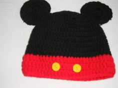 mickey mouse hat made by bobbi lelo