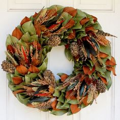 Celebrate fall and winter with this truly stunning Turkey Pheasant Wreath.