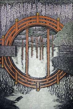 Morimura Ray - Beautiful woodblock prints. Go look at the rest on the link!