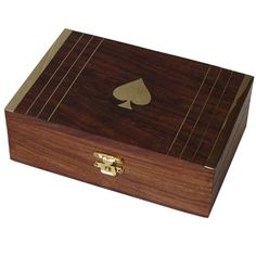 Gift Ideas Wooden Jewelry Box Brass Inlay Work from India
