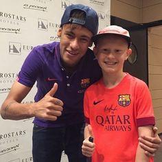 """""""@neymarjr today with a fan ❤️"""""""