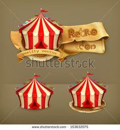 Circus, vector icon ...