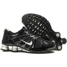 reputable site f4699 bab56 Shox Nike Shox Agent Black White Silver Shoes  Nike Shox Agent - The mesh  and black patent leather upper make the shoe breathable and durable.
