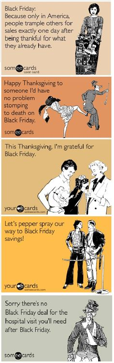 Crazy, rude people on Black Friday (or should I say, Black Thanksgiving)
