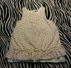 ~ Lydia Jane Baby Flowers Lined Light Cord Dress Size 9 Mos ~EUC