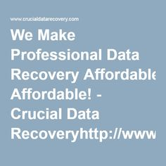 We Make Professional Data Recovery Affordable! - Crucial Data Recoveryhttp://www.crucialdatarecovery.com/