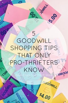 Thrift shops aren't like the typical department stores. There are some tips and tricks to getting your money's worth. Here are 5 tips you might not know #talesfromthethriftshop #goodwill #thrifttips #sustainablefashion