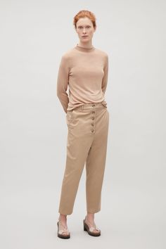 COS | Buttoned drop-crotch trousers