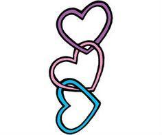3 hearts tattoo designs - Google Search