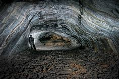Icelandic cave exploration