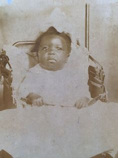 Sweet little African American baby by ThatVintagePhotoShop