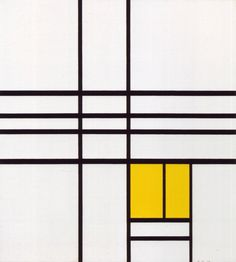 intercase:Piet Mondrian, Composition with Yellow (1936)