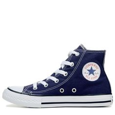 Converse Kids' Chuck Taylor All Star High Top Sneakers (Midnight Indigo) Converse Shoes High Top, Converse Style, Converse Sneakers, Converse All Star, High Top Sneakers, Converse Chuck, Cute Shoes, Me Too Shoes, Galaxy Converse