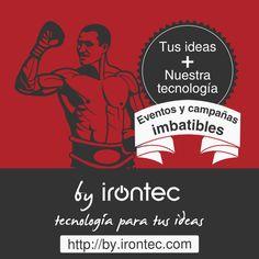 """""""By Irontec"""" es el departamento multidisciplinar de Irontec. Con él apoyamos tecnológicamente a agencias y anunciantes. Cada proyecto es personalizado y único para tu marca. Llevará tu esencia y, por supuesto, nuestro sello. Hecho by Irontec...  + info >> http://by.irontec.com/?utm_source=Social%20Media&utm_medium=Pinterest&utm_campaign=Foa2014"""