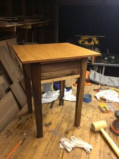Another piece of furniture for the house. A great project for practicing joinery. Pallet Side Table, Joinery, End Tables, House, Furniture, Home Decor, Carving, Woodworking, Mesas