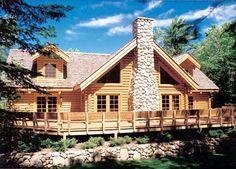 Log Retreat - 59001ND | Architectural Designs - House Plans