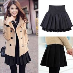 """Color:red,black,sdark gray, Size:one size. Length:38cm/14.82"""". Waist:60-74cm/23.40""""-28.86"""". Fabric material:woolen. Tips: *Please double check above size and consider your measurements before ordering"""