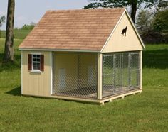 This is not the exact one but the idea of it is what i love. Awesome inside outside dog kennel.  That way she is confined when we leave and it can be locked also.