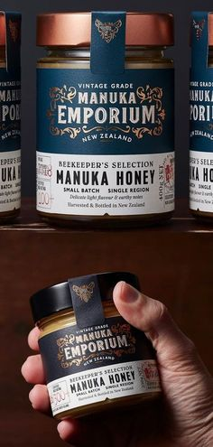 Manuka Emporium were inspired by the attitude, persistence and honey making philosophies of thos Honey Packaging, Beer Packaging, Chocolate Packaging, Brand Packaging, Glass Packaging, Food Branding, Food Packaging Design, Packaging Design Inspiration, Honey Logo