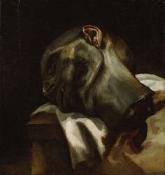 Theodore Gericault's Anatomical Studies: Head of a Guillotined Man, 1818-9