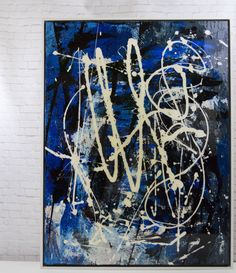 abstract acrylic finishes | Let Me Out- an original abstract acrylic painting in custom white wood ...