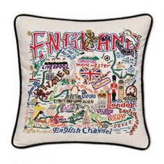 Beautiful hand embroidered pillows by Catstudio! Buy this exclusive pillow only from TabulaTua. #HandEmbroideredPillows #Catstudio #CatstudioPillows