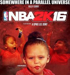 Riley Curry: On the cover of NBA 2K16. #Warriors - http://nbafunnymeme.com/nba-memes/riley-curry-on-the-cover-of-nba-2k16-warriors