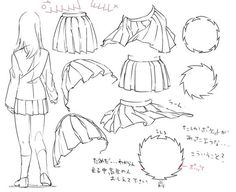 How to draw uniform/sailor/pleaded skirts. -- Drawing tools, inspiration, tutorial, anime/manga, realistic: