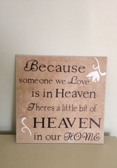 Heaven Quote Tile by meghanweller on Etsy