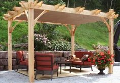Outdoor Living Today - 10 x 10 Breeze Pergola with Retractable Canopy