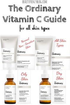 The Ordinary Vitamin C Guide for all Skin Types. #theordinary #vitaminc #theordinaryvitaminc #theordinaryvitamincguide #deciem