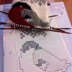 Diy Crafts - Crochet Patterns Slippers So pretty, creative & sweet! Intarsia Knitting, Knitting Socks, Baby Knitting, Animal Knitting Patterns, Knitting Charts, Crochet Patterns, Diy Crafts Crochet, Yarn Crafts, Punto Fair Isle