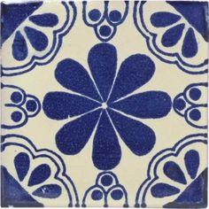 Blue Isabel Talavera Mexican Tile