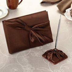 Livre d'or Chocolat Déco Mariage