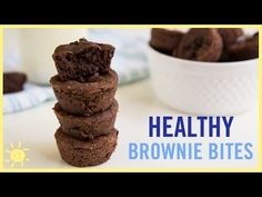 (1) EAT | Brownie Bites (with a Secret, Healthy Ingredient) - YouTube